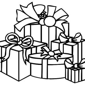 Christmas Presents Various Shape Of Coloring Pages