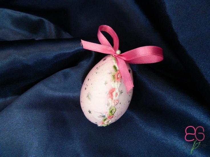 Ou decorativ mic roz | Decoratiuni de Pasti
