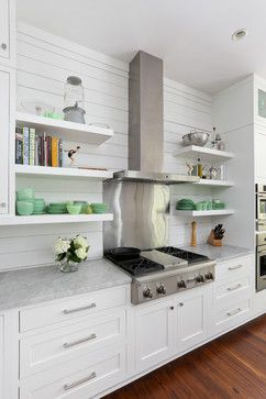 The beautiful milky green glassware is love love love@ It just glows in this kitchen. beautiful. How to Get a Spotless, Beautifully Organized Kitchen In a Week|Houzz