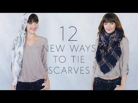 12 классных способов завязать длинный шарф