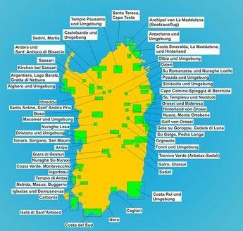 Karte Sehenswürdigkeiten Sardinien – Biggi Manderscheid