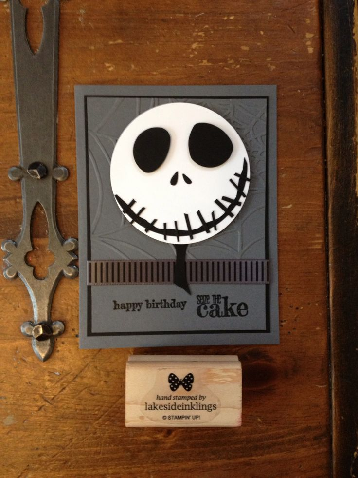 Magnificent Stampin Up Nightmare Before Christmas Tim Burton Jack Funny Birthday Cards Online Ioscodamsfinfo
