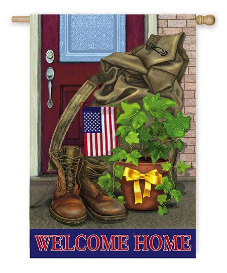 'Welcome Home' Soldier Flag