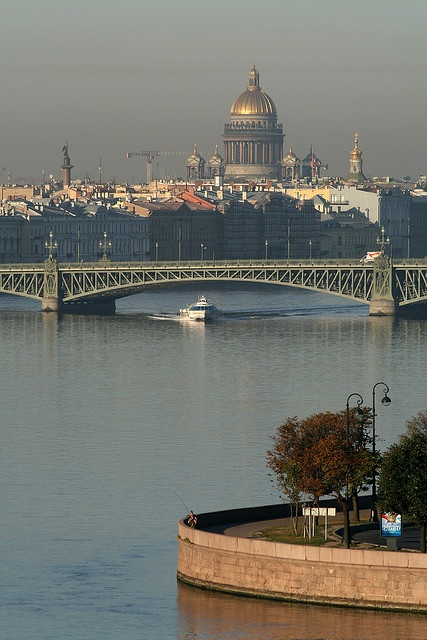 View on the Neva River and Saint Isaac's Cathedral - St Petersburg