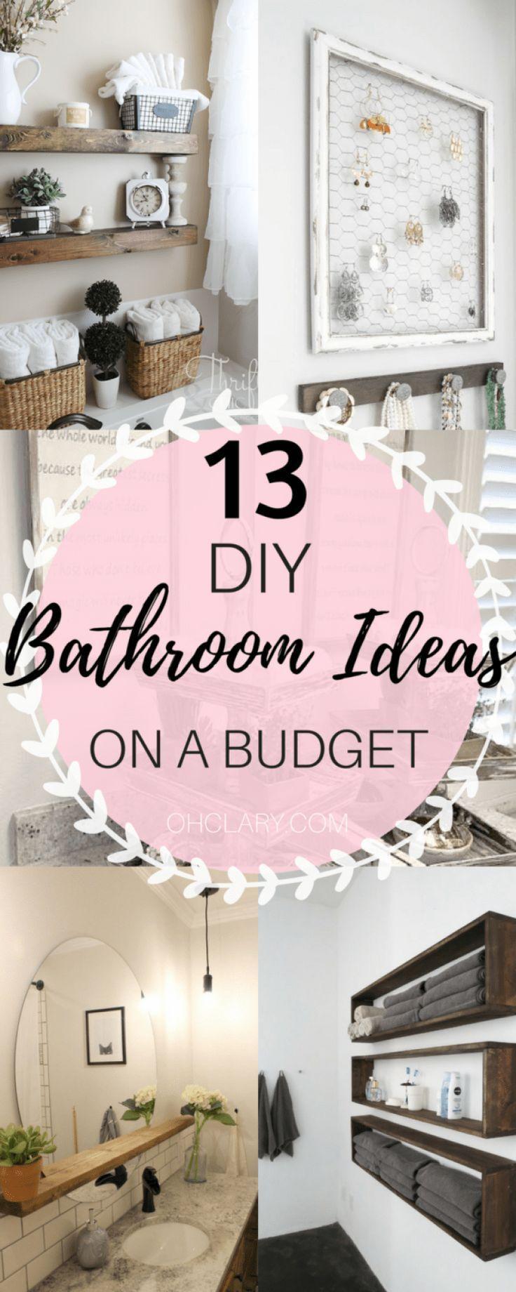 12 Ideen für ein DIY-Badezimmerdekor mit kleinem Budget, das Sie sich nicht leisten dürfen