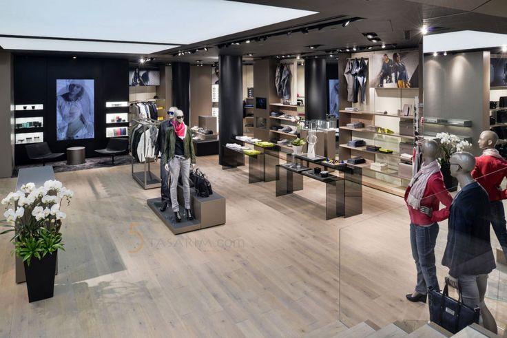 Bayan Giyim Mağaza Duvar Panel Raf Sistemi