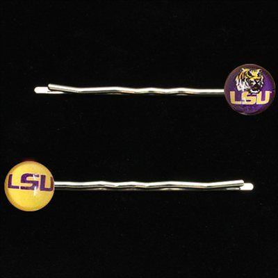 LSU Tigers Ladies 2-Pack Team Logo Bobby Pins