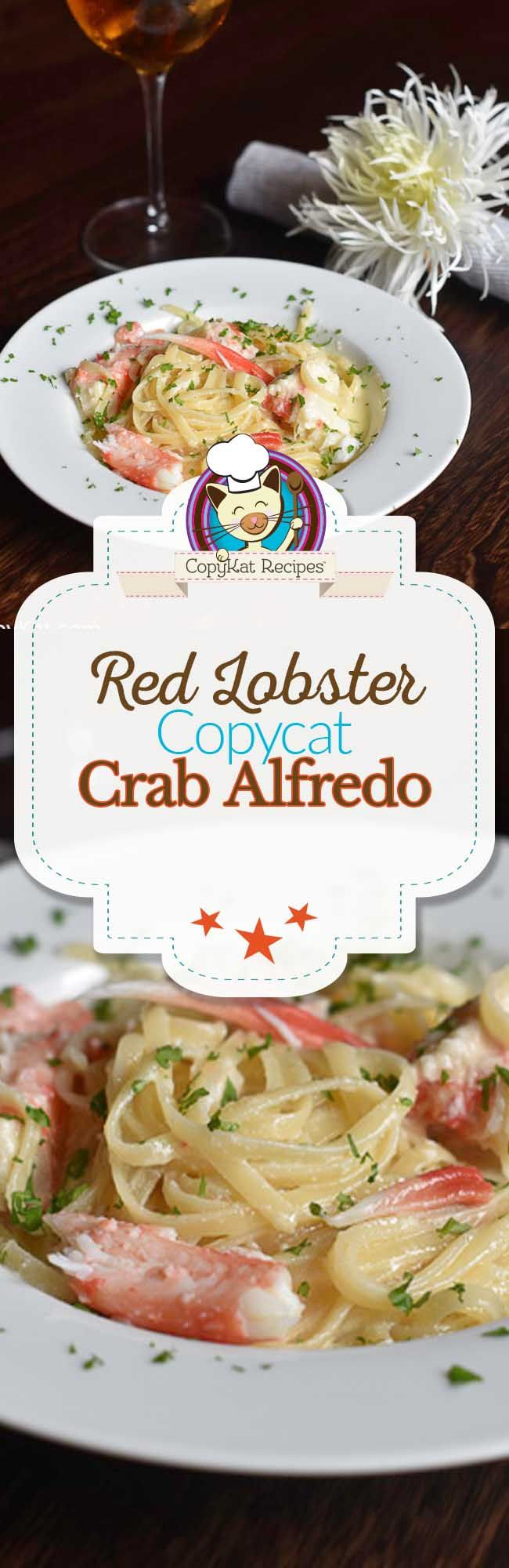 You can recreate the Red Lobster Crab Alfredo from scratch with this easy copycat recipe.