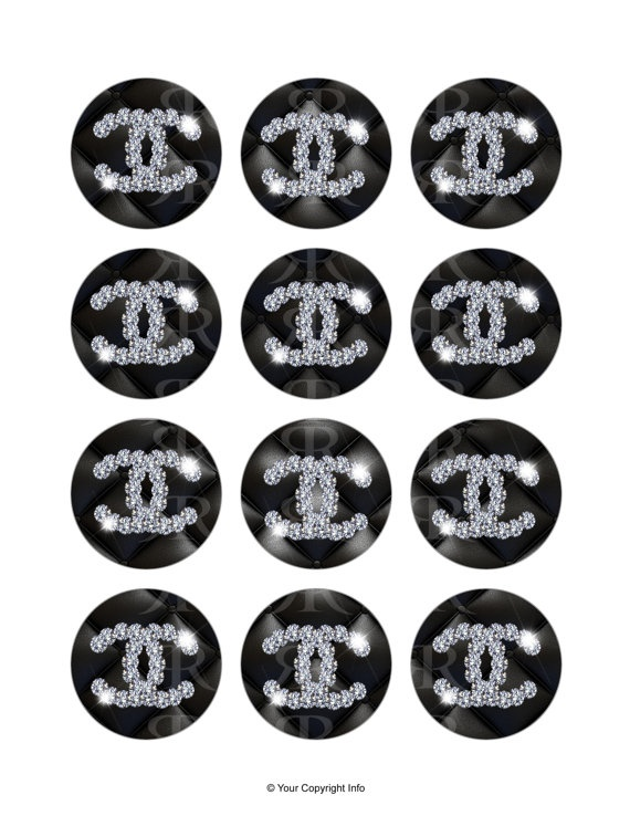 Chanel Cupcake Toppersdigital Printable File By