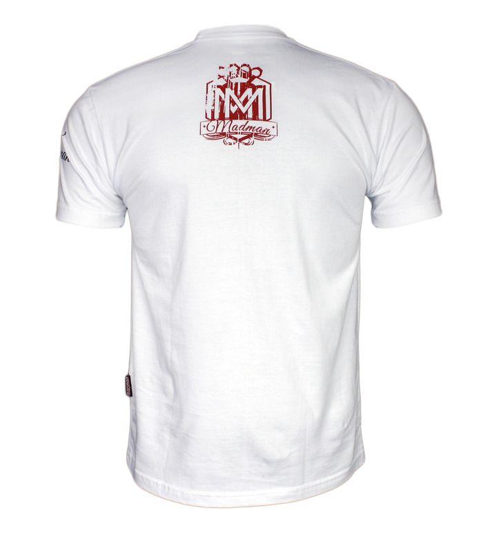 Koszulka 'Logo' biała - tył ---> Streetwear shop - odzież uliczna, kibicowska i patriotyczna / Przepnij pina!
