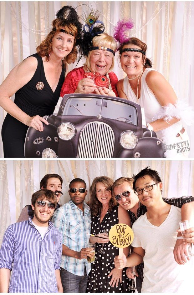 Great gatsby photo booth | The Confetti Booth | Roaring 20's / Great Gatsby Photo Booth | Plaza ...