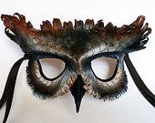 horned owl leather mask
