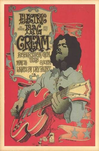 Cream, Electric Flag 1968 Concert Poster UCSB , CA