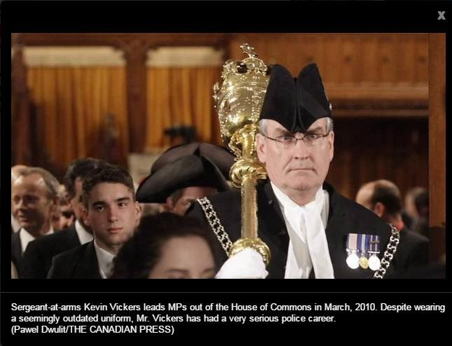 Sergeant at Arms Kevin Vickers, responded and quickly ended what could have been a more horrific tragedy.  True Canadian hero.