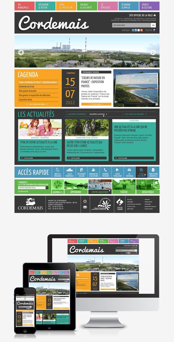 #Webdesign #Responsive #Mairie #Ville #Colterr : le nouveau site web de la ville de Cordemais (44) http://www.cordemais.fr