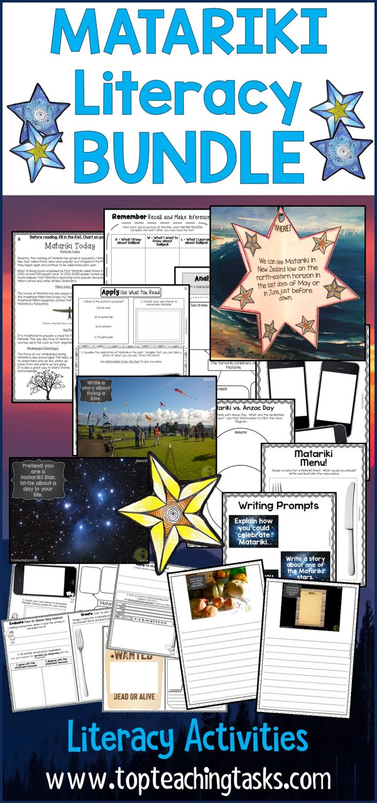 Let us save you time this Matariki and June with our New Zealand Matariki BUNDLE: Matariki literacy resources featuring Reading, Writing, and other activities! Perfect for the NZ (New Zealand) classroom and your guided reading program! Features Matariki activities for kids. #Matariki #MatarikiReading #MatarikiWriting #MatarikiLiteracym