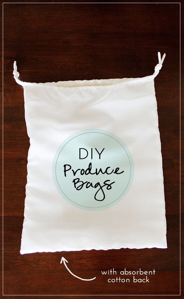 DIY Produce Bags Absorbent Cotton Linen Backing use this tutorial for the dimensions, but make in mesh