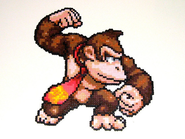 Donkey Kong  Bead Sprite by Doctor Octoroc, via Flickr - Amazing!