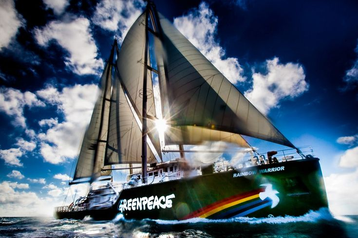 Sailing up the QLD coast to #SavetheReef (c) Greenpeace / Tom Jefferson