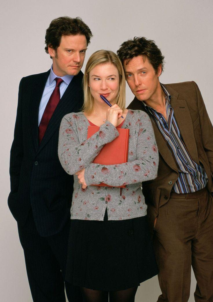 """Renée Zellweger, Hugh Grant y Colin Firth en """"El diario de Bridget Jones"""", 2001"""