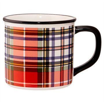 Holiday Plaid Camp Mug by Indigo   Novelty Mugs Gifts   chapters.indigo.ca