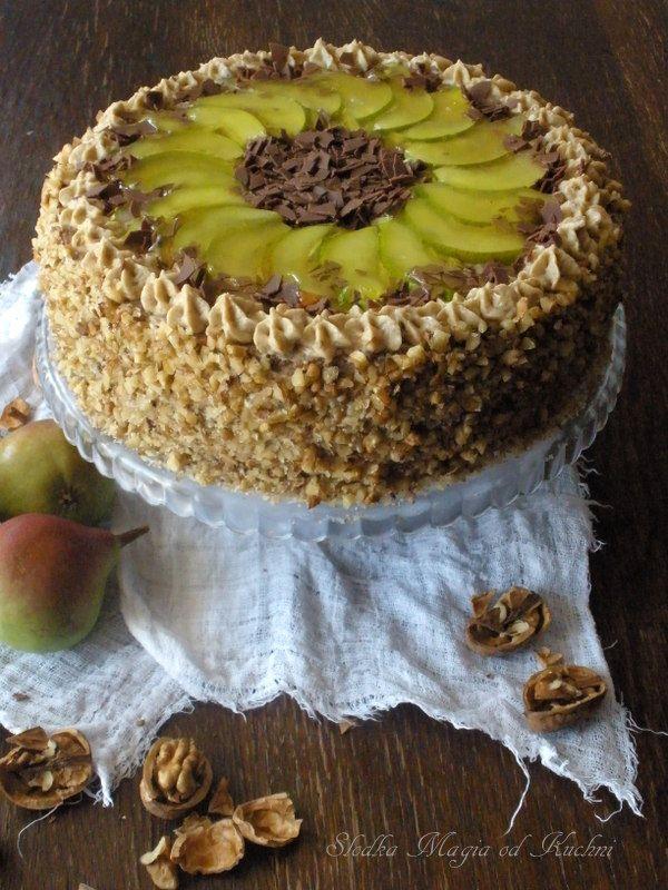 Tort orzechowo-gruszkowy