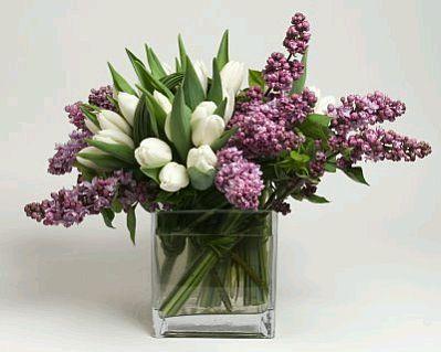 centros de mesa para boda flores lilas y blancas - Buscar con Google