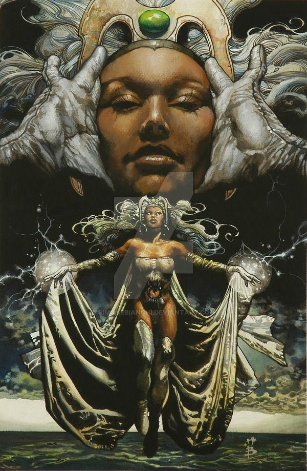 "superheroesincolor: "" Storm by Simone Bianchi // Marvel Comics Get the comics here [Follow SuperheroesInColor faceb / instag / twitter / tumblr / pinterest] """