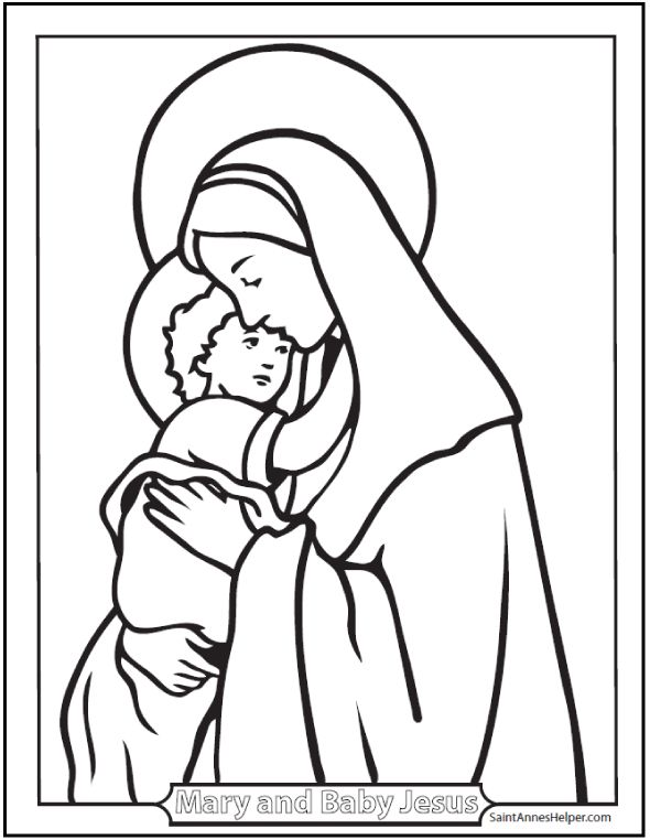 catholic coloring pages hail mary - photo#7