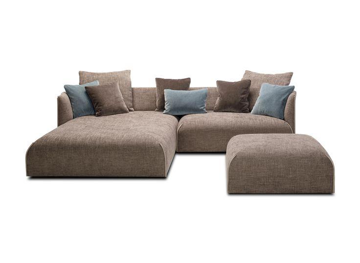 • Sofa with corresponding loose backcushion. • Composable model with 7 seat sizes (45x85, 90x85, 135x85, 180x85, 135x180, 90x180, corner 2x 135x85) ,..