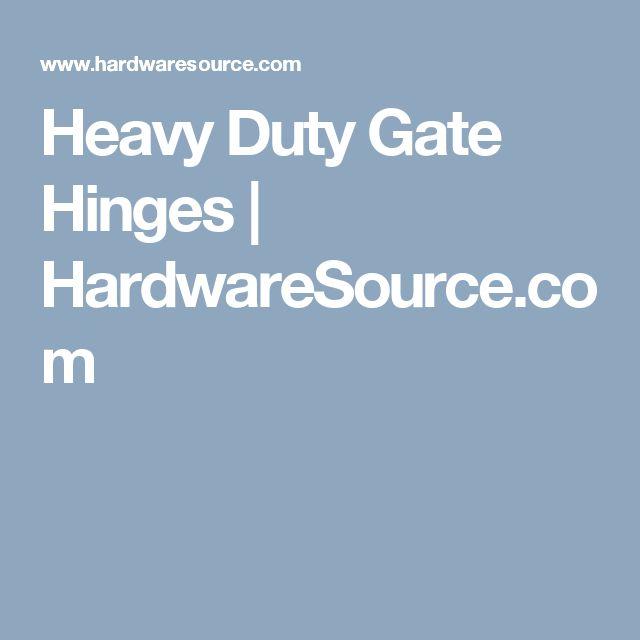 Heavy Duty Gate Hinges | HardwareSource.com