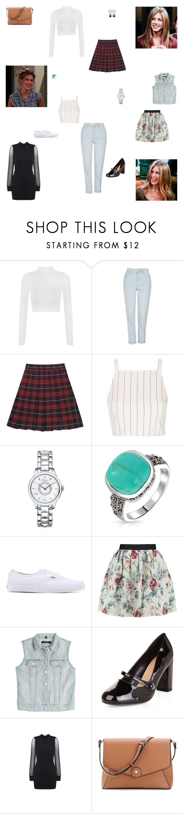"""""""Friends - Rachel Green Inspired Outfits"""" by verostyle16 on Polyvore featuring WearAll, Topshop, Christian Dior, Bling Jewelry, Vans, Raoul, J Brand, New Look and Dyrberg/Kern"""
