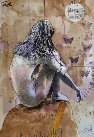 """Saatchi Art Artist Loui Jover; Drawing, """"the poetry of nothing"""" #art                                                                                                                                                                                 More"""