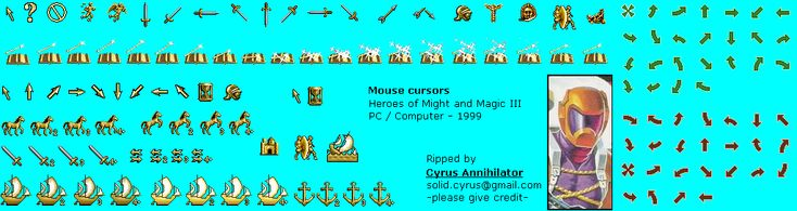 Heroes of Might and Magic III - Mouse Cursors
