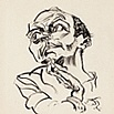 Ludwig Meidner (German, 1884–1966)  Self-Portrait, 1916  Reed pen over graphite on vellum  image and sheet: 24 7/16 x 19 in. (62.07 x 48.26 cm)  Purchase, with funds in memory of Betty Croasdaile and John E. Julien M2010.48   Photo credit John R. Glembin  ©Ludwig Meidner - Archiv, Juedisches Museum der Stadt Frankfurt am Main