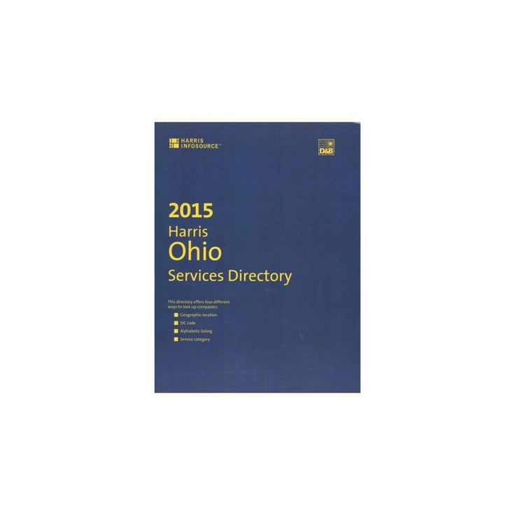 Harris Ohio Services Directory 2015 ( Harris Ohio Services Directory) (Paperback)