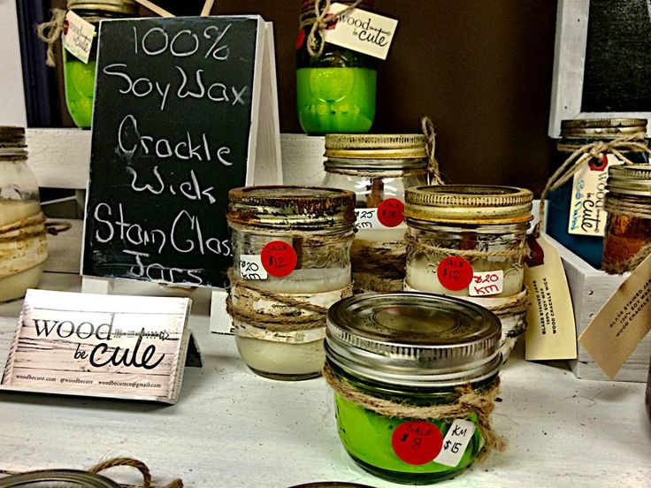 Candles on sale at the Arts Market 846 College St, Toronto, ON M6H 1A2