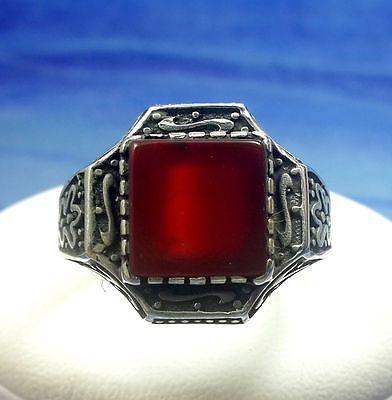 LAVA! Turkish Cornelian Topaz Stone 925K Sterling Silver For Men Ring Size 12