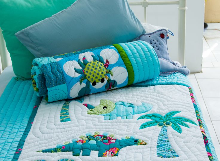 Dinosaur #quilt - available in our shops