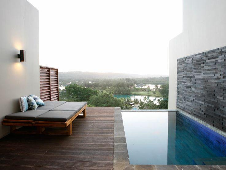 Take a dip on your private pool deck at The Terraces Boutique Apartments, Vanuatu  www.islandescapes.com.au