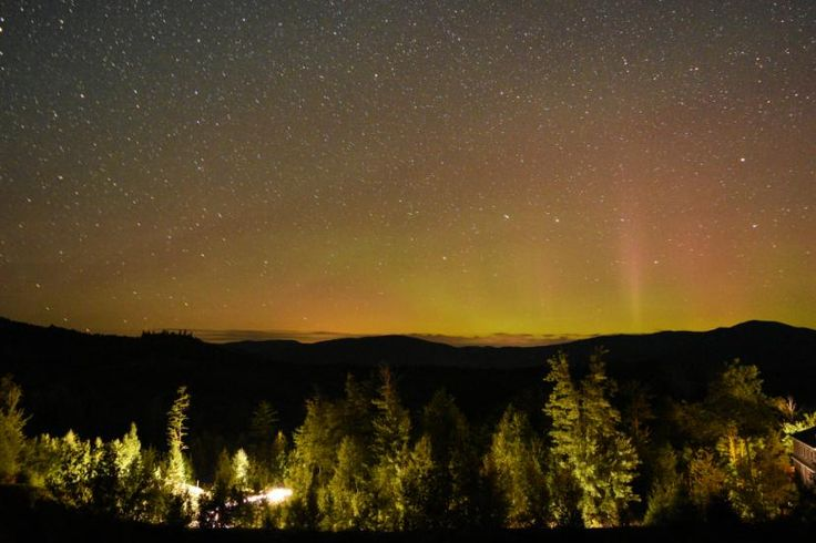 I saw the aurora alerts online and immediately headed out to go see the aurora…