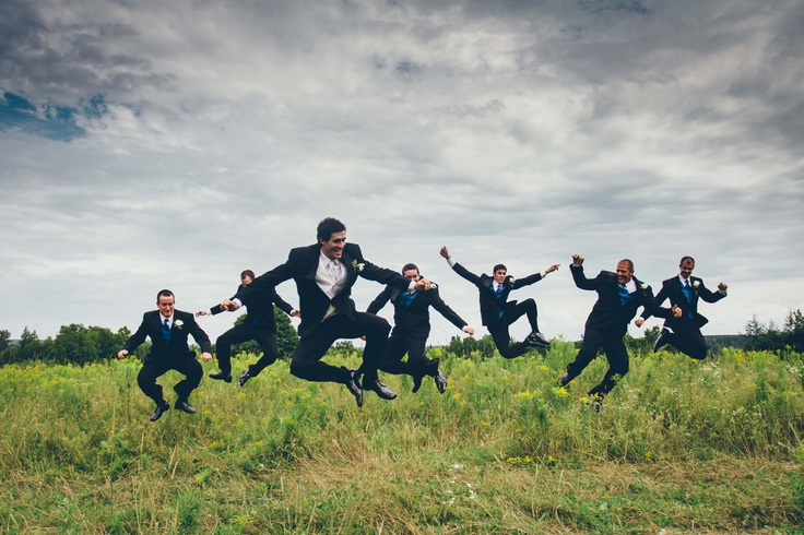 Groom and his groomsmen! Wedding photography by Mag Hood. Fredericton, NB
