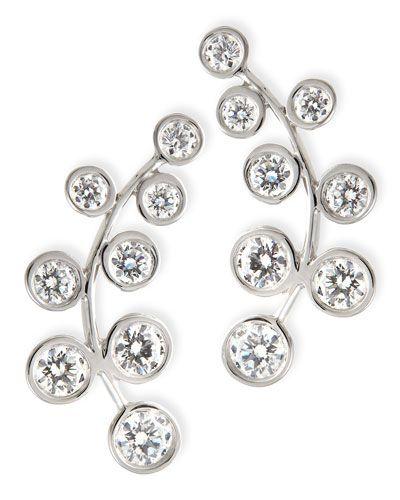 Rina Limor Curved Diamond Climber Earrings 53xBab