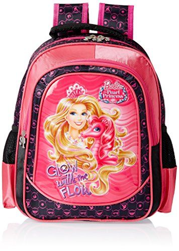 #2: Barbie Pink and Black Children's Backpack (EI-MAT0022)