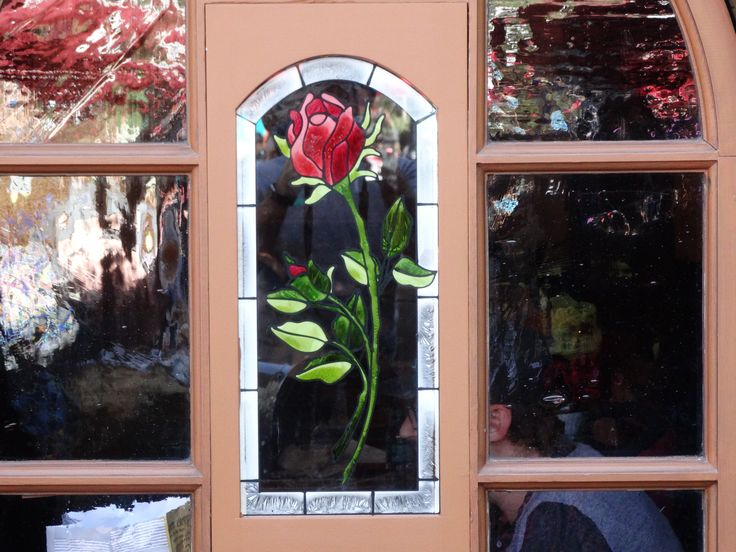 """As announced a mere ten days ago by Disneyland, the Village Haus restaurant in Fantasyland has already been transformed into a """"Beauty and the Beast""""-theme eatery called the Red Rose Taverne, compl..."""