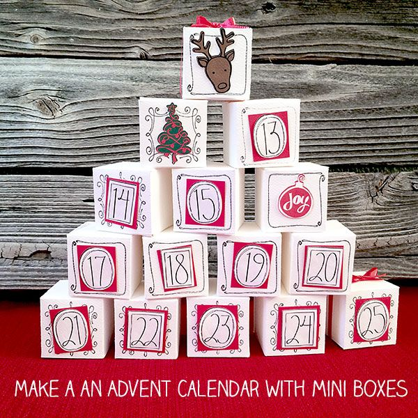 Jen Goode's 100 Directions: Make a mini gift box advent calendar - free printable