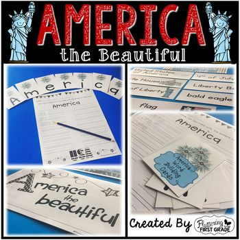 Teaching our students about America, is one of the highlights of our school year. The following activities are used to draw their attention to a few of our countrys symbols. We use these activities in whole and small groups, as well as challenge students to try them independently.Whats Included:*American Symbols Word Cards  Use these to focus on key vocabulary and give students a pictorial representation of each word.