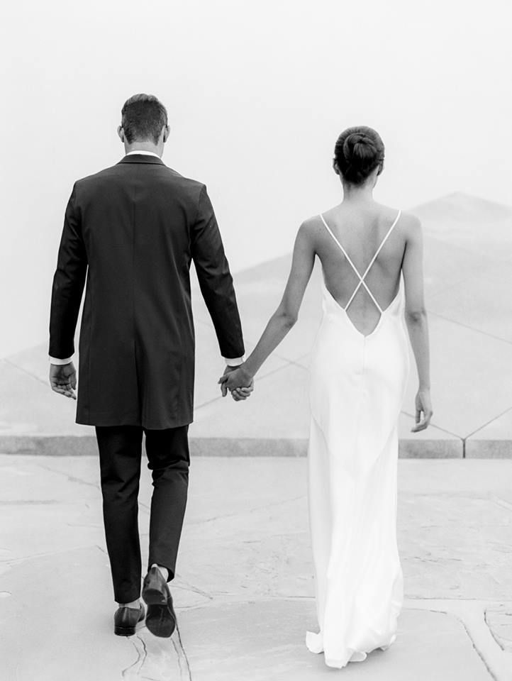 such a minimalist wedding..