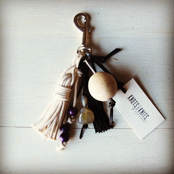 Knots & Knits - handmade bag tassel.