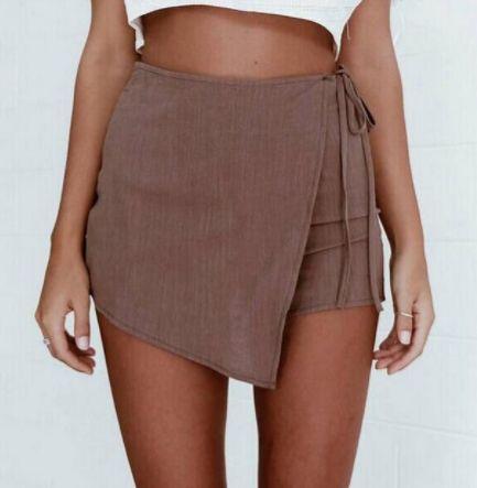 The Raina | FRONT |  Short + Skirt = Skort  Available in:  White  Brown  Black   R230.00 | S | M | L |